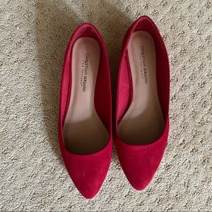 Never been worn red flat